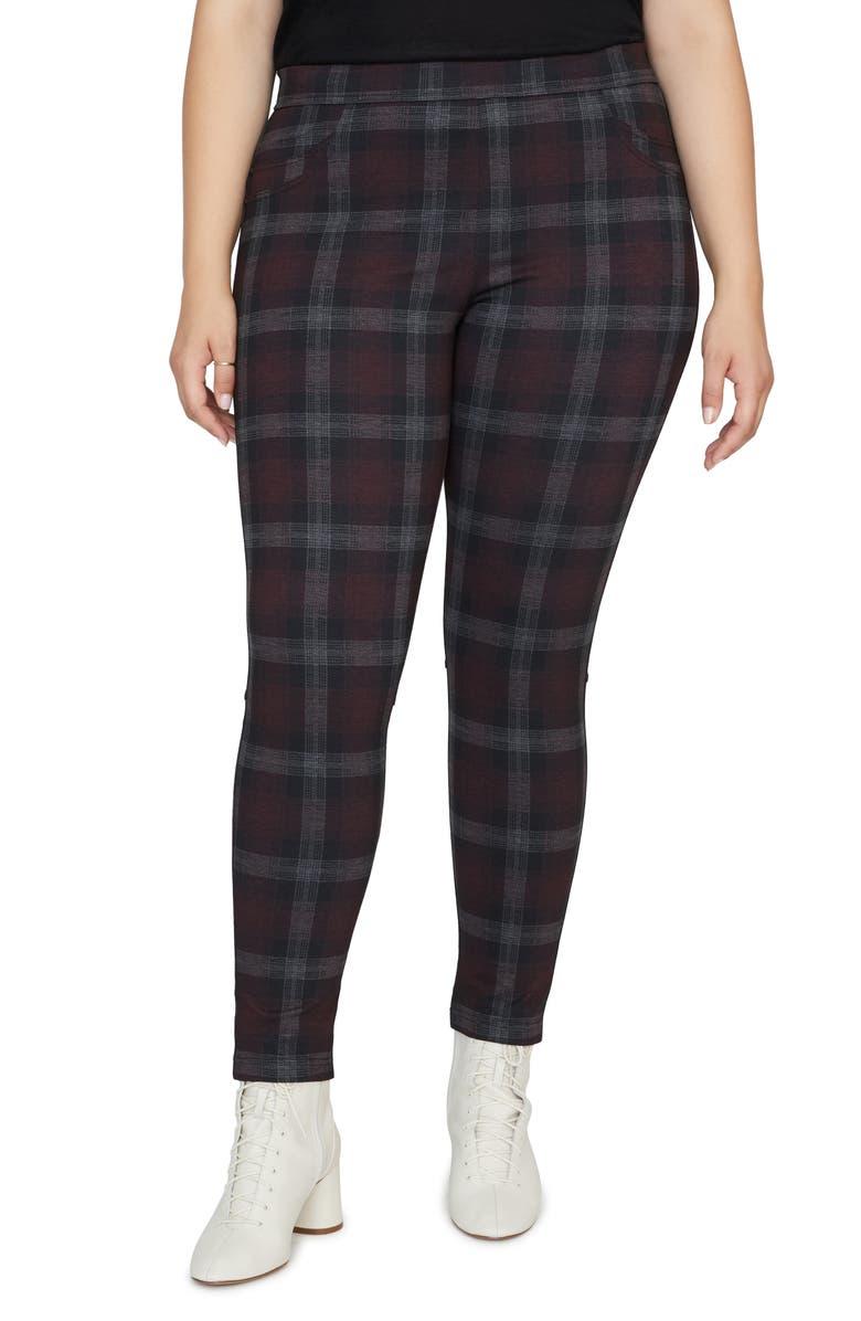 SANCTUARY Grease Check Legging Pants, Main, color, BRIXTON PLAID