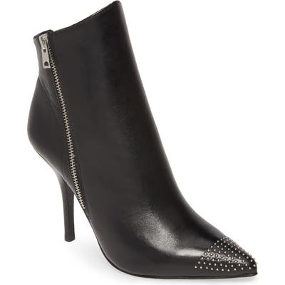 Allsaints Valeria Studded Pointed Toe Bootie, Black