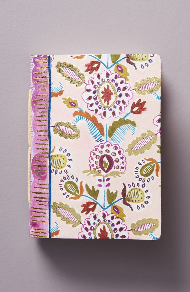 ANTHROPOLOGIE Medium Batik Journal, Main, color, PINK