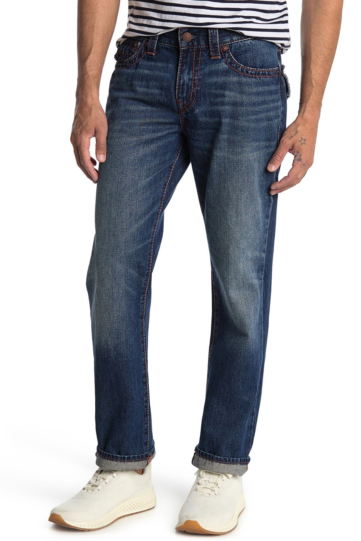 Image of True Religion Ricky Flap Big Straight Leg Jeans