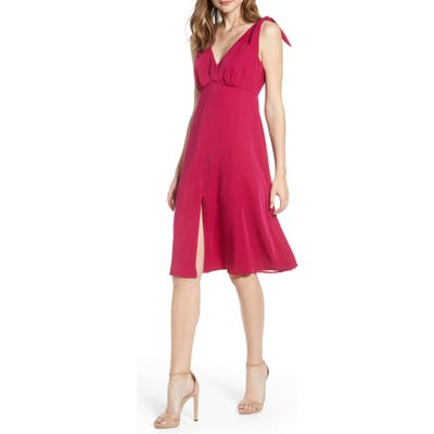 Cupcakes And Cashmere Tie Shoulder Crepe Dress, Pink