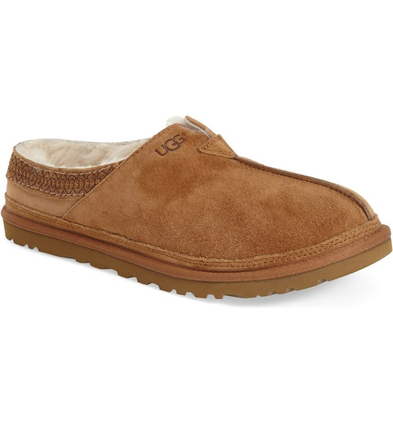 UGG<SUP>®</SUP> Neuman Slipper, Main, color, CHESTNUT