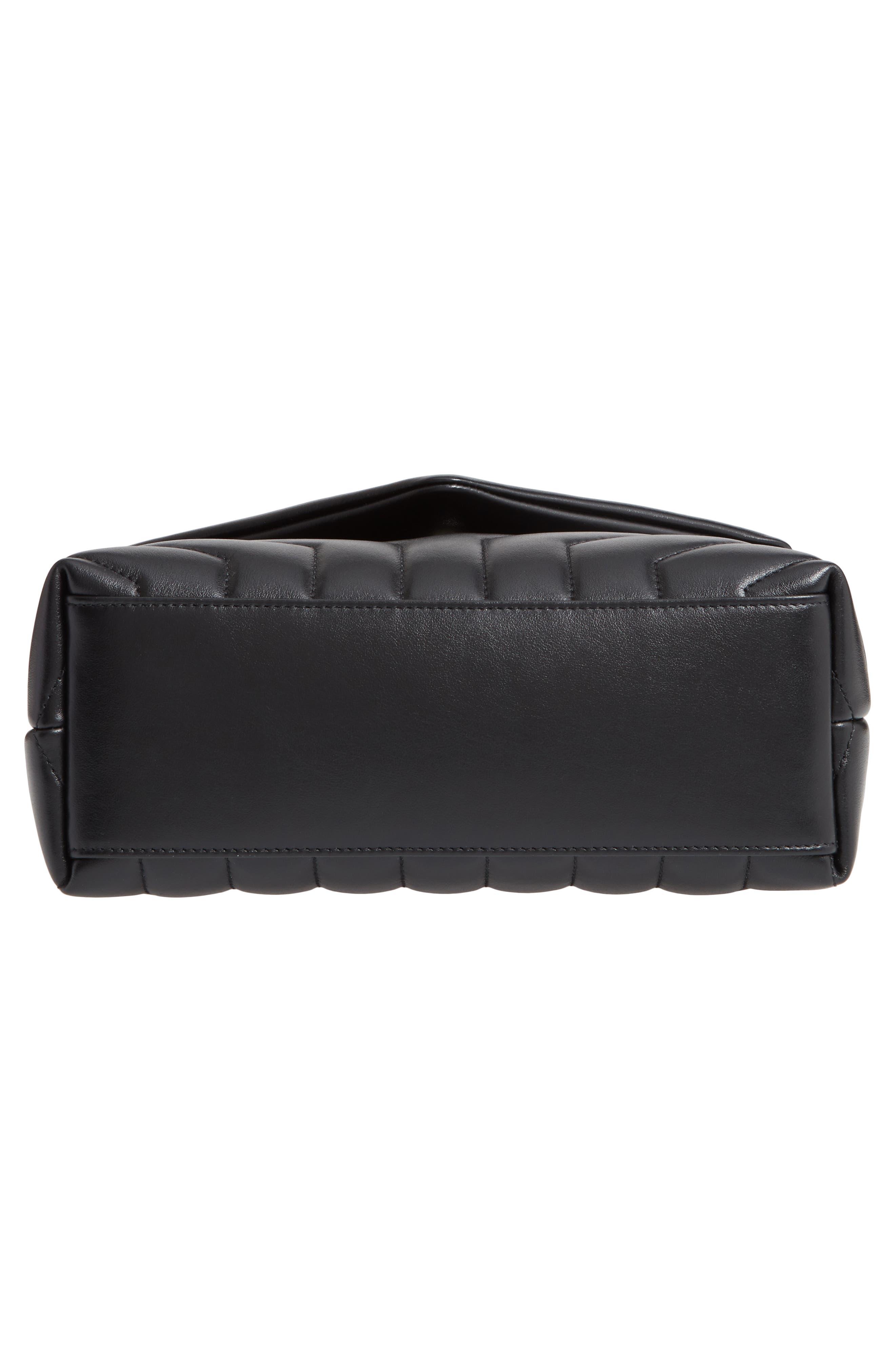 ,                             Small Loulou Leather Shoulder Bag,                             Alternate thumbnail 5, color,                             001
