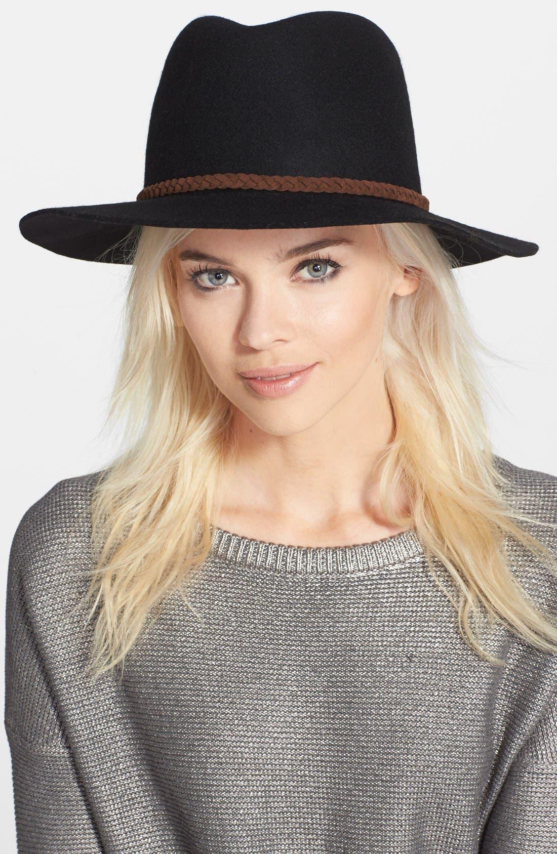 ,                             Felt Panama Hat,                             Main thumbnail 4, color,                             001
