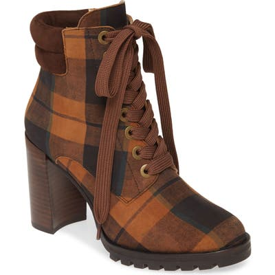 Paige Lace-Up Nicole Bootie, Brown