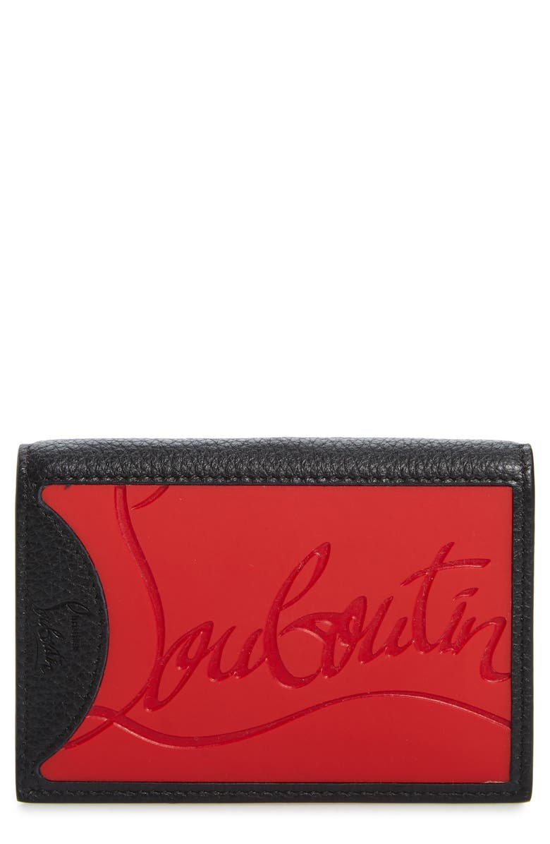 CHRISTIAN LOUBOUTIN Card Holder, Main, color, RED