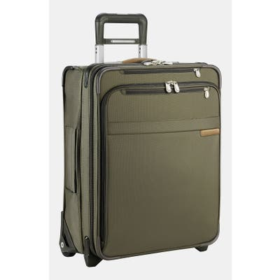 Briggs & Riley Baseline International 22-Inch Expandable Rolling Carry-On - Green