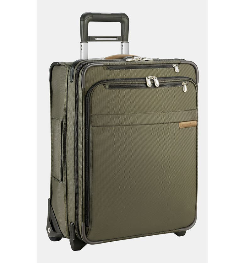 BRIGGS & RILEY Baseline 21-Inch International Expandable Rolling Carry-On, Main, color, OLIVE