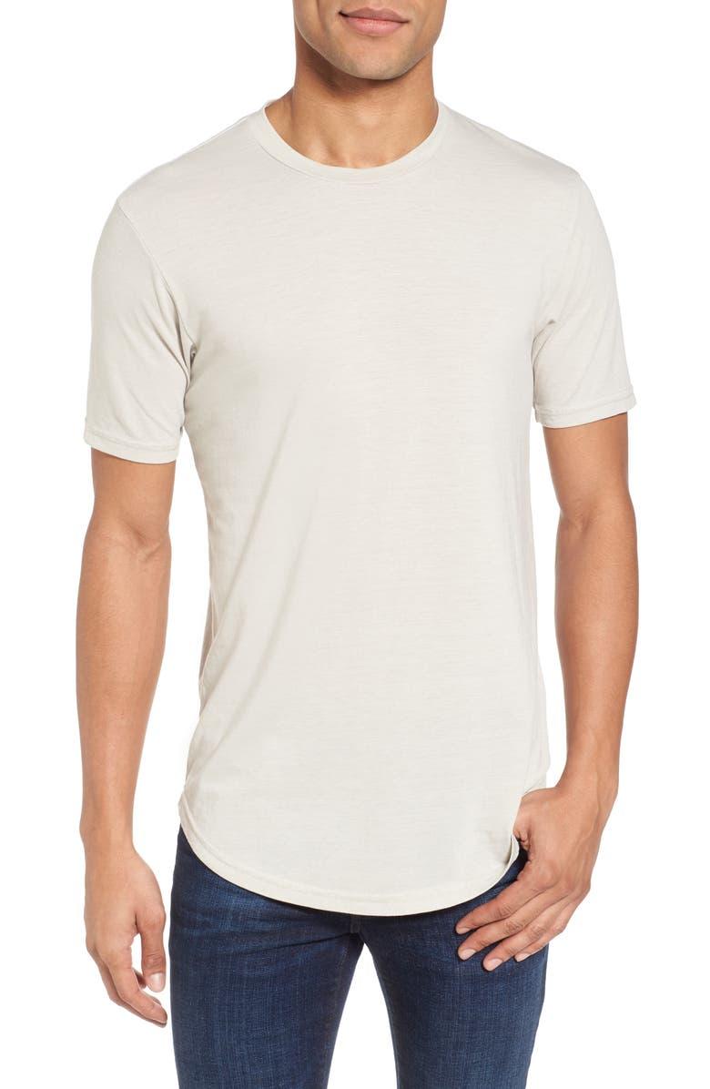 GOODLIFE Triblend Scallop Crewneck T-Shirt, Main, color, 020