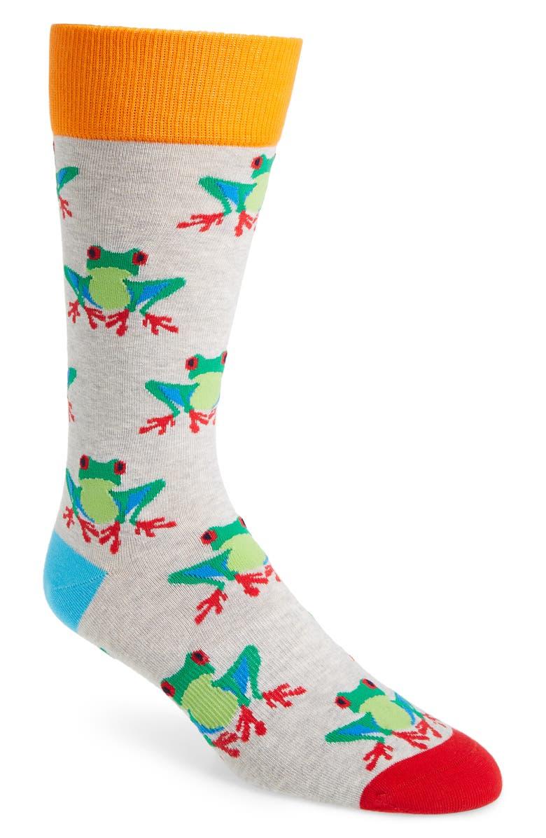 FUN SOCKS Frog Socks, Main, color, 300