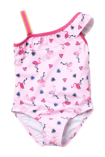 Image of Andy & Evan One Shoulder Swimsuit