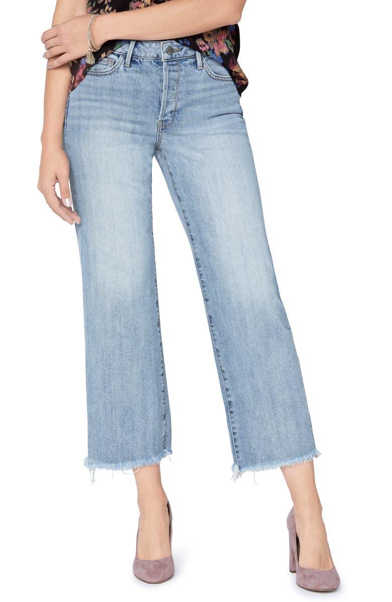 SAM EDELMAN The Chelsea Crop Wide Leg Jeans, Main, color, HUNTER