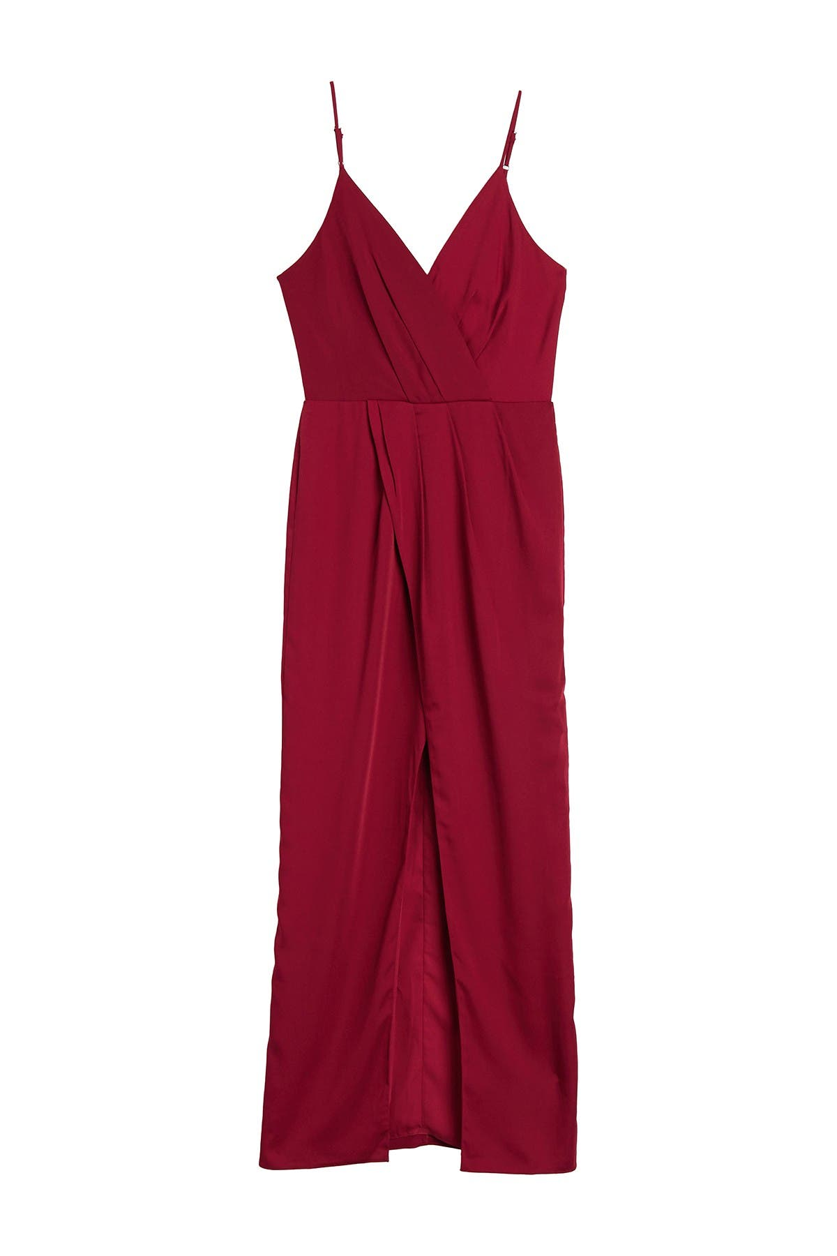 Image of Harlyn Surplice Neck Sleeveless Front Slit Gown