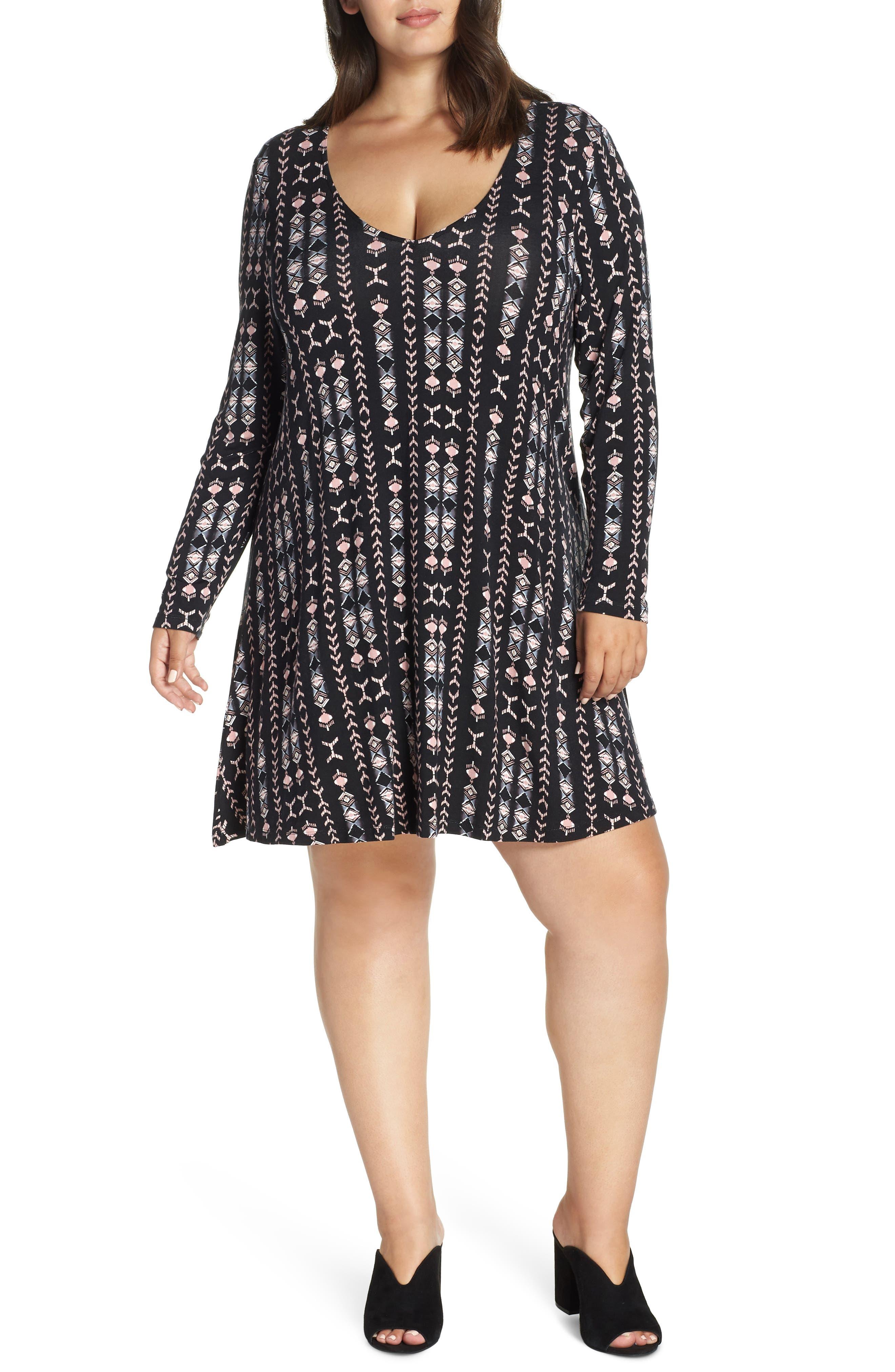Plus Size Lemon Tart Suzi Dress, Black