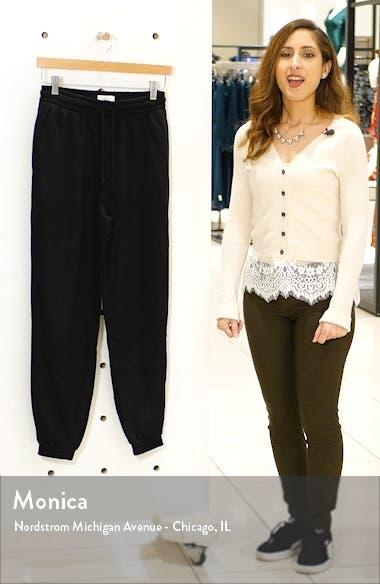High Waist Cotton Blend Sweatpants, sales video thumbnail