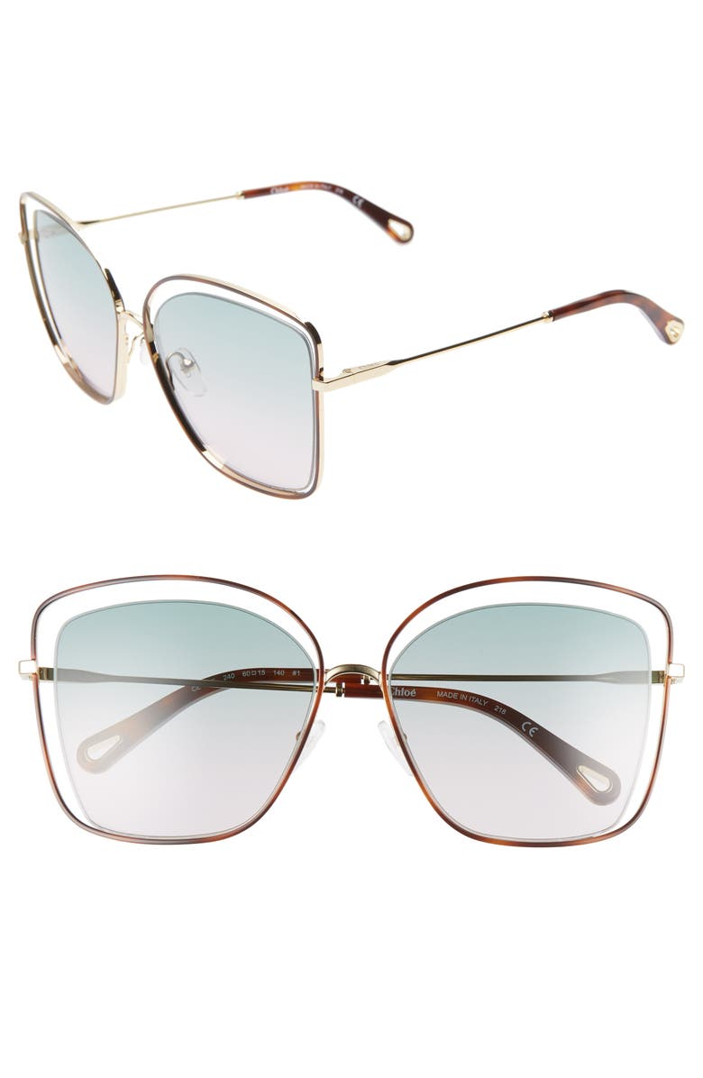 60mm Halo Frame Sunglasses by ChloÉ