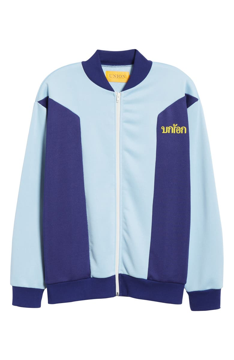 UNION LOS ANGELES Colorblock Track Jacket, Main, color, LIGHT BLUE / NAVY