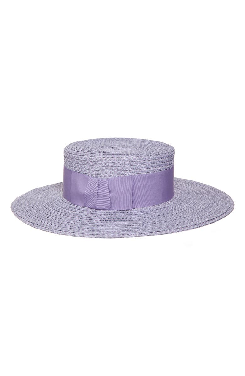 ERIC JAVITS 'Gondolier' Boater Hat, Main, color, LILAC