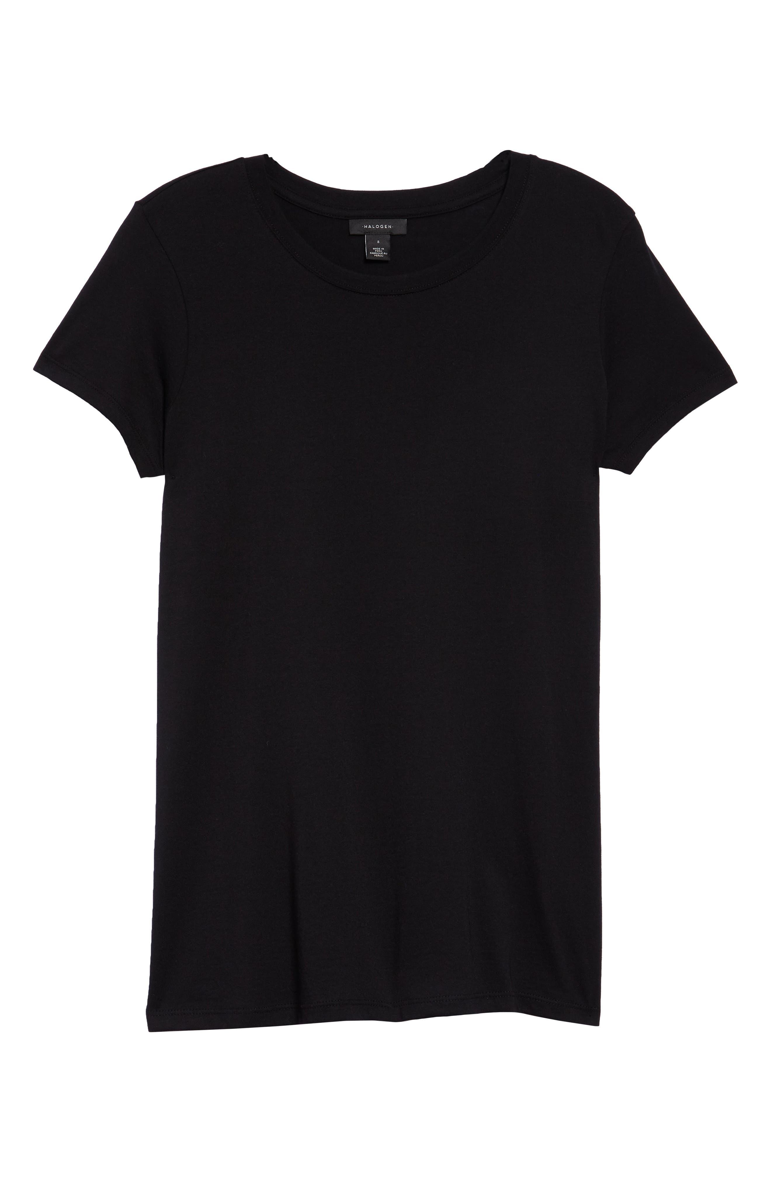 Short Sleeve Crewneck Tee, Main, color, BLACK