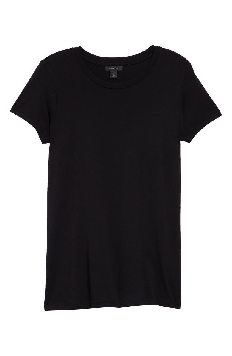 HALOGEN<SUP>®</SUP> Short Sleeve Crewneck Tee, Main, color, BLACK