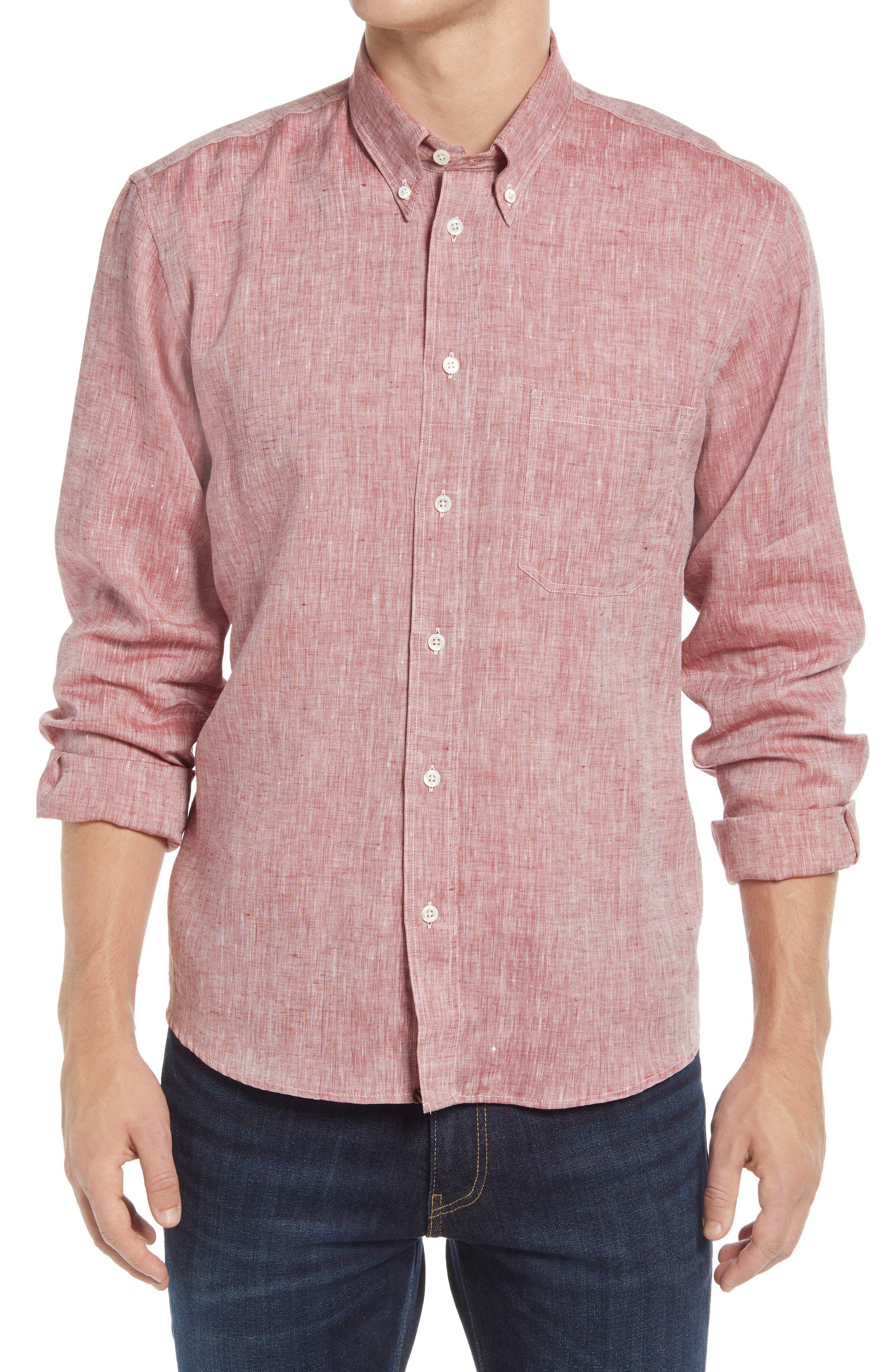 Tuscumbia Linen Button-Down Shirt
