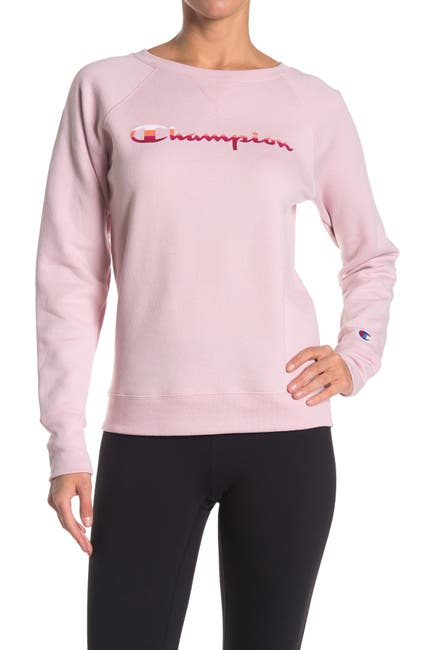 Image of Champion Powerblend Logo Graphic Pullover