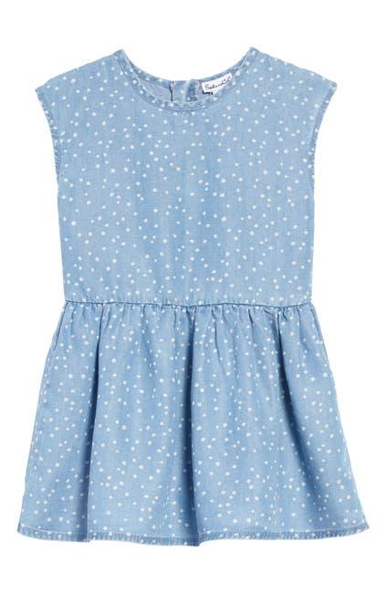Image of Splendid Chambray Dot Print Dress
