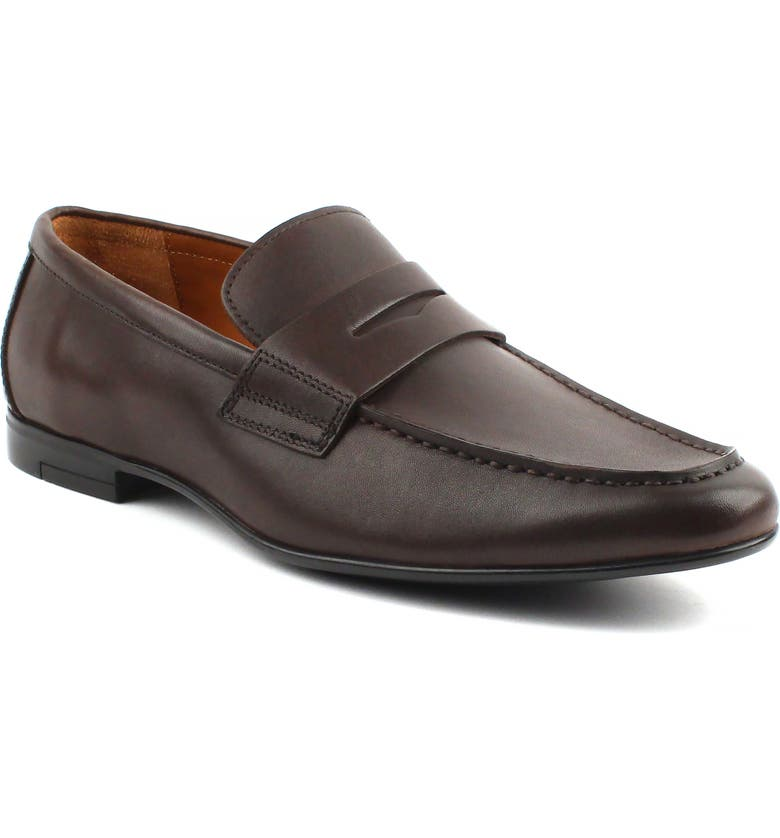 GORDON RUSH Connery Penny Loafer, Main, color, ESPRESSO LEATHER