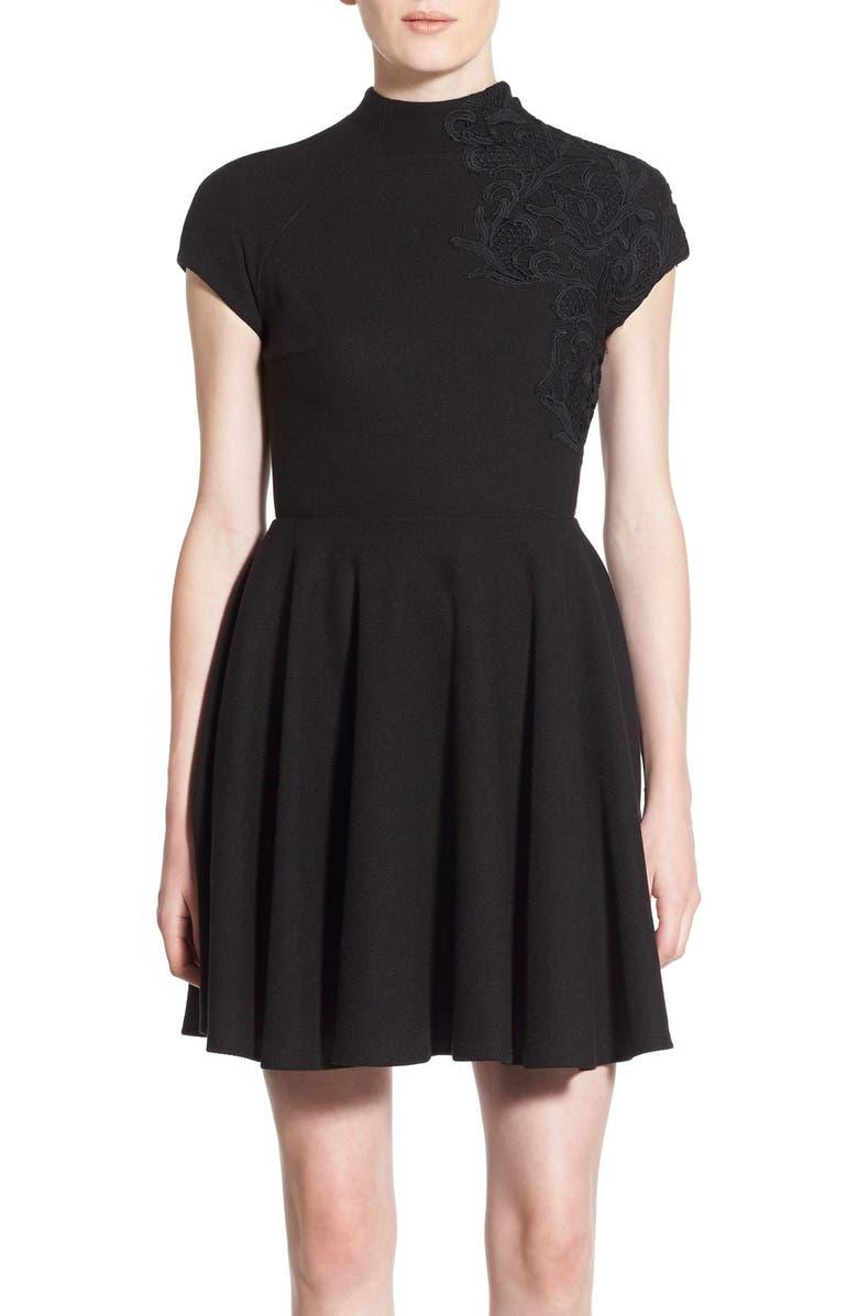 PLENTY BY TRACY REESE Lace Appliqué Dress, Main, color, 001