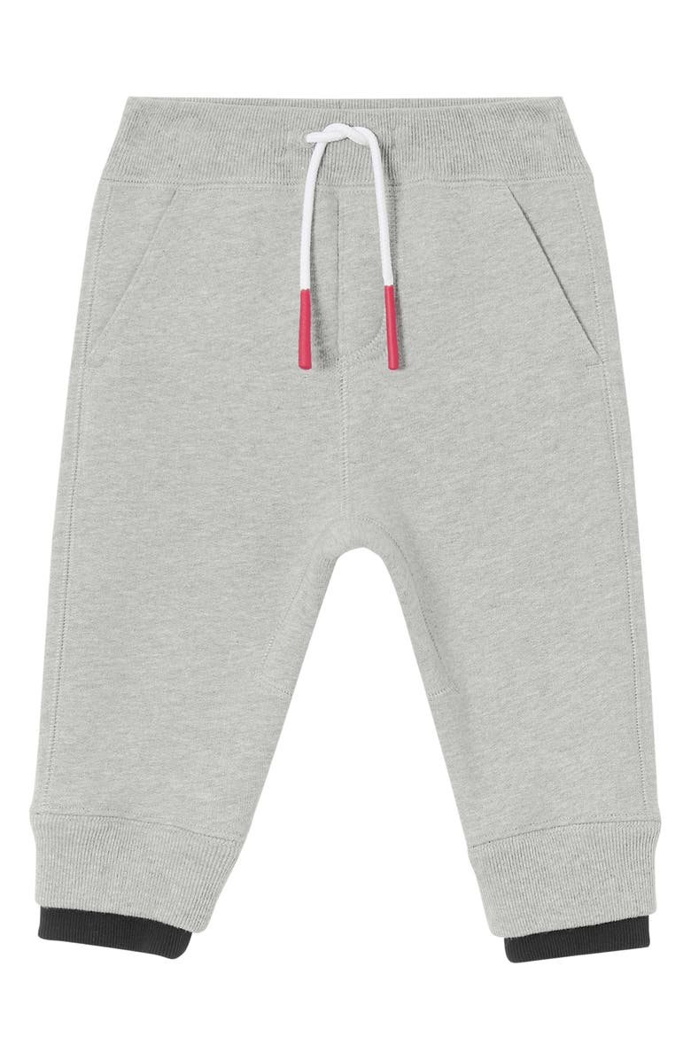 BURBERRY Mini Fabbio Sweatpants, Main, color, GREY MELANGE