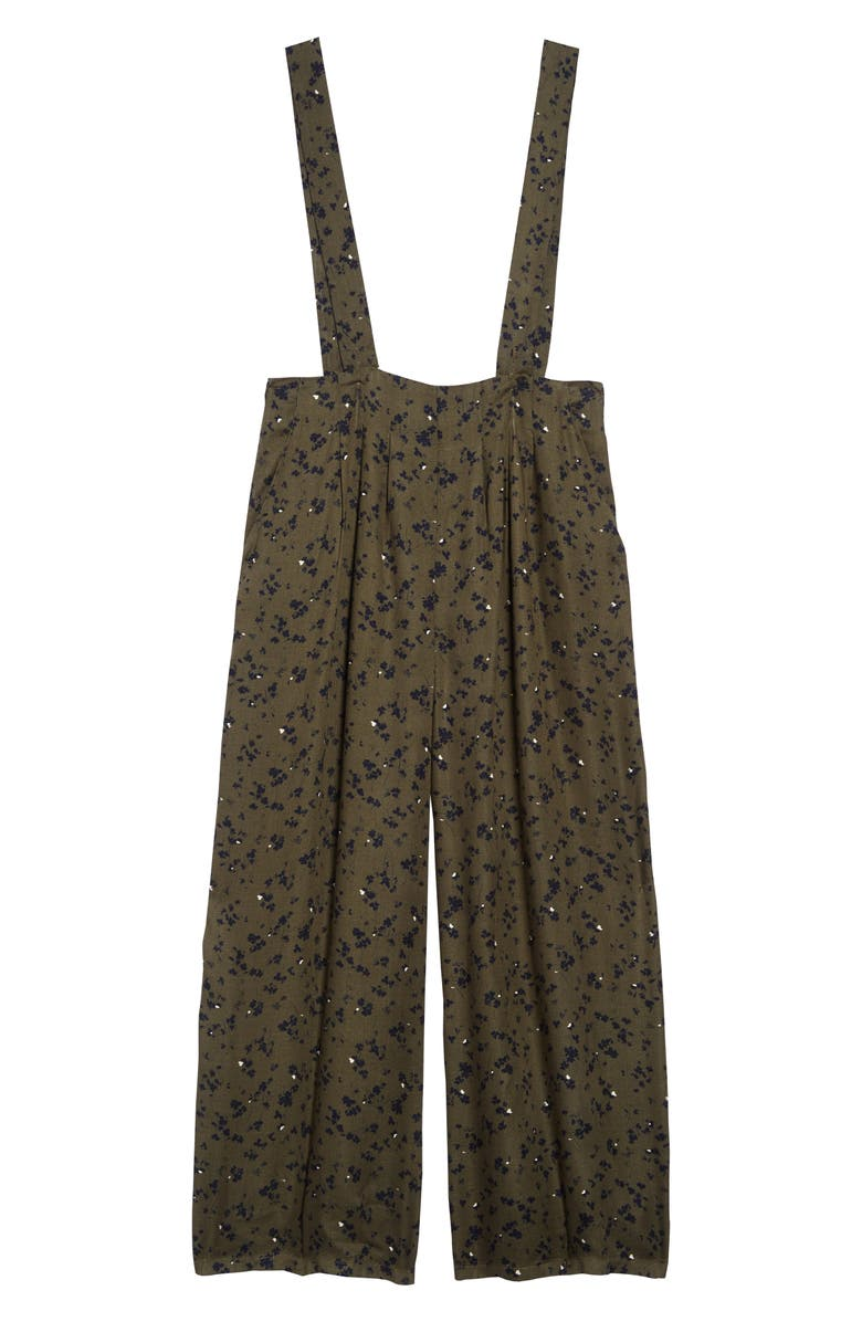 TREASURE & BOND Suspender Pants, Main, color, OLIVE SARMA CLOVERS