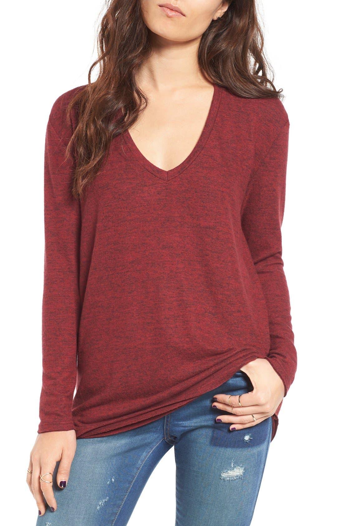 ,                             Cozy V-Neck Sweater,                             Main thumbnail 62, color,                             601