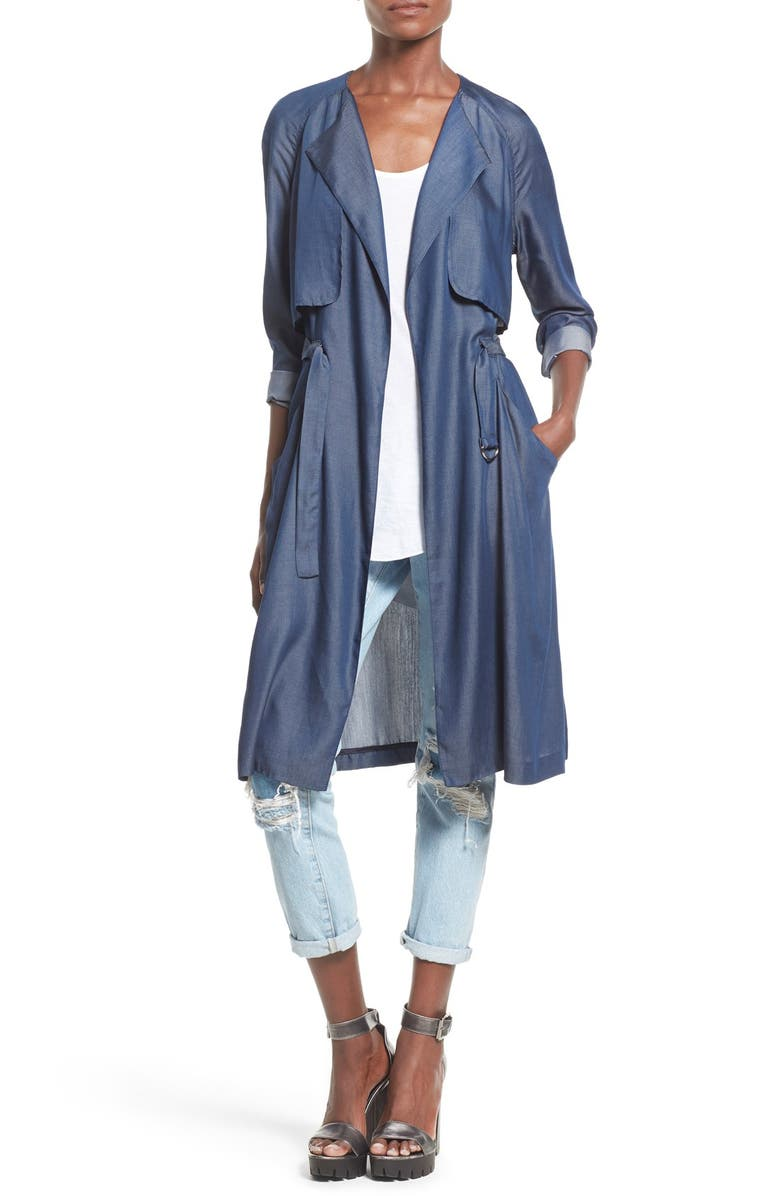 ASTR THE LABEL ASTR 'Amy' Trench Coat, Main, color, 408