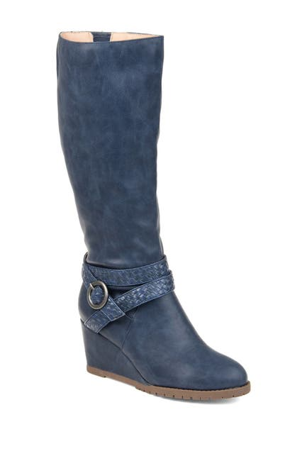 Image of JOURNEE Collection Garin Waterproof Faux Fur Trim Boot - Extra Wide Calf