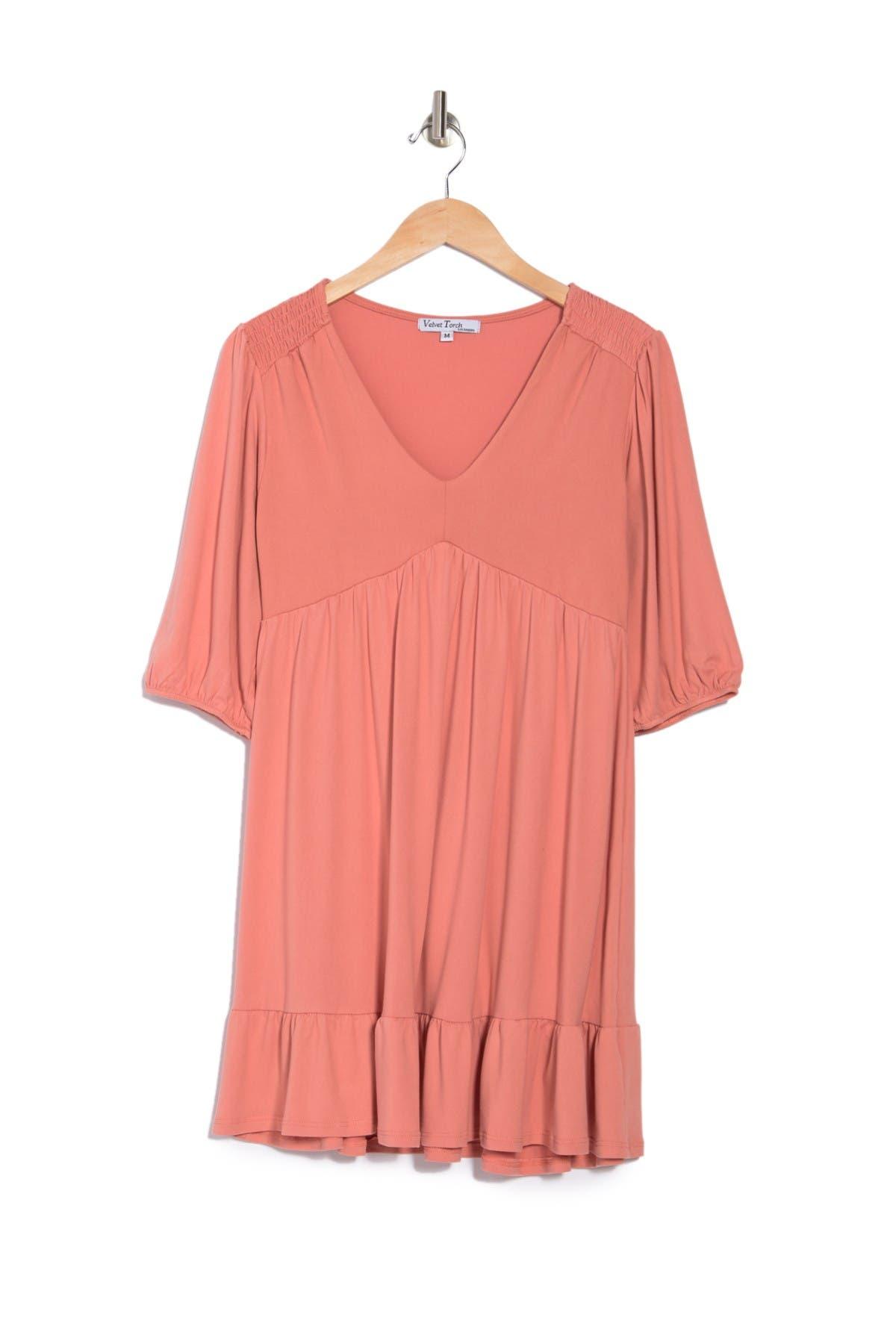 Image of Velvet Torch Square Neck Tie Dye Ribbed Knit Dress