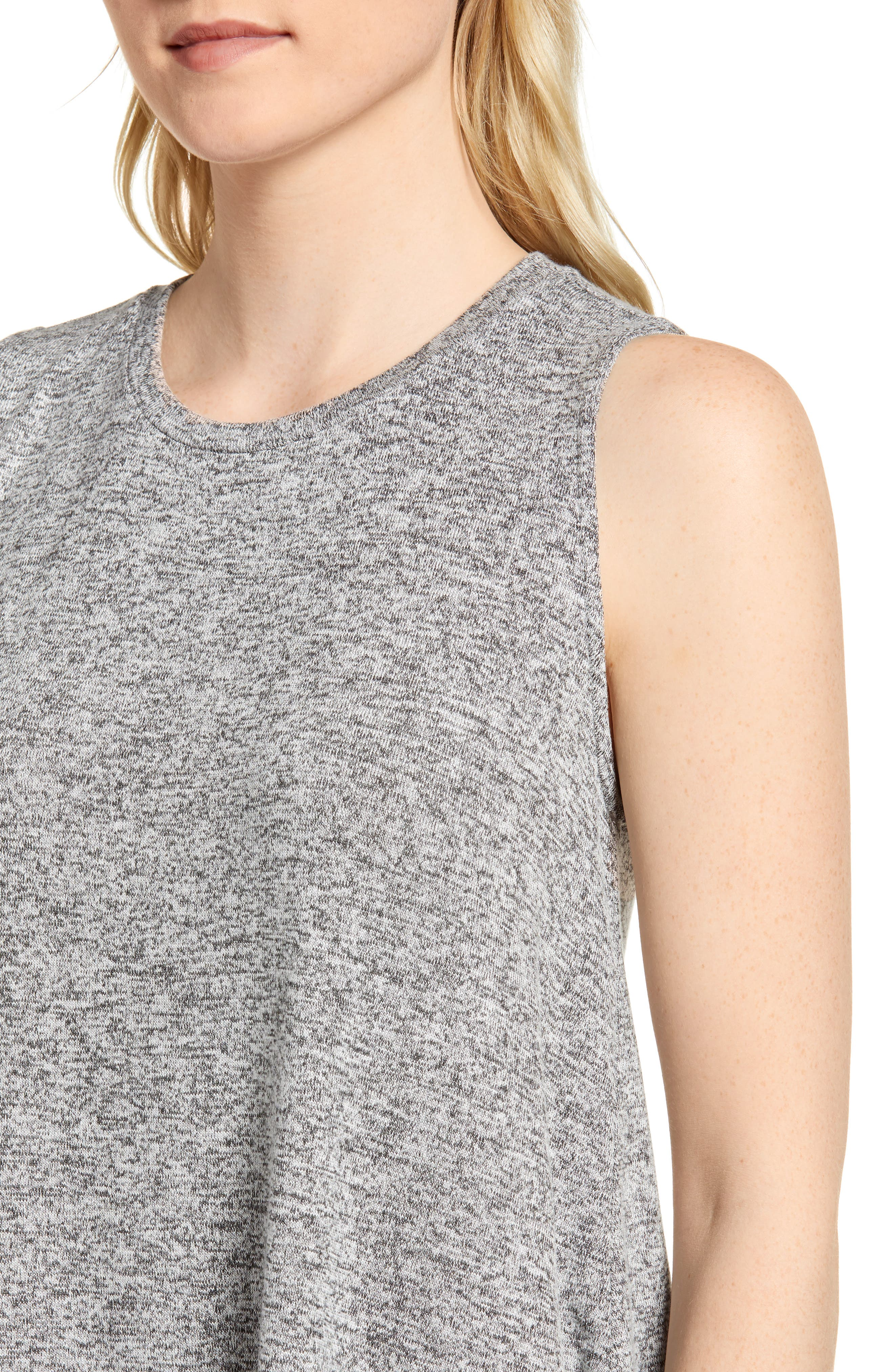 ,                             x Living in Yellow Millie Cozy Muscle Tank,                             Alternate thumbnail 5, color,                             HEATHER GREY