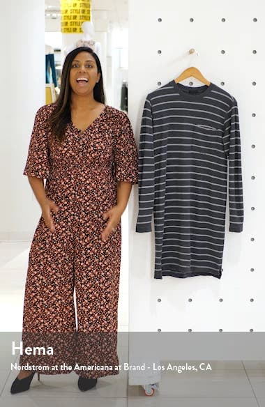 Stripe Long Sleeve T-Shirt Dress, sales video thumbnail