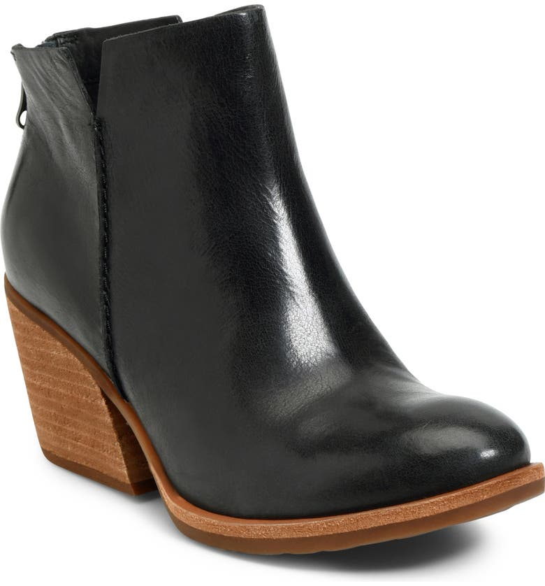KORK-EASE<SUP>®</SUP> Kork-Ease<sup>™</sup> Chandra Bootie, Main, color, BLACK LEATHER