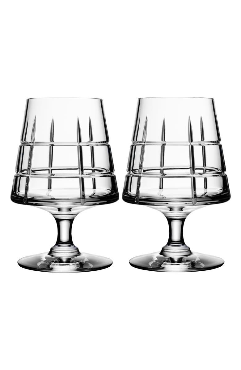 ORREFORS 'Street' Cognac Glasses, Main, color, WHITE