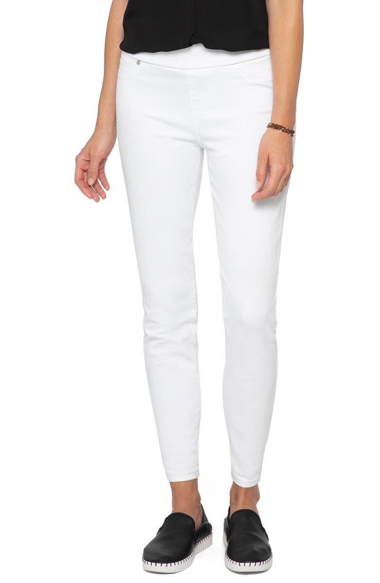 NIC+ZOE Zoe Pull-On Skinny Jeans, Main, color, PAPER WHITE