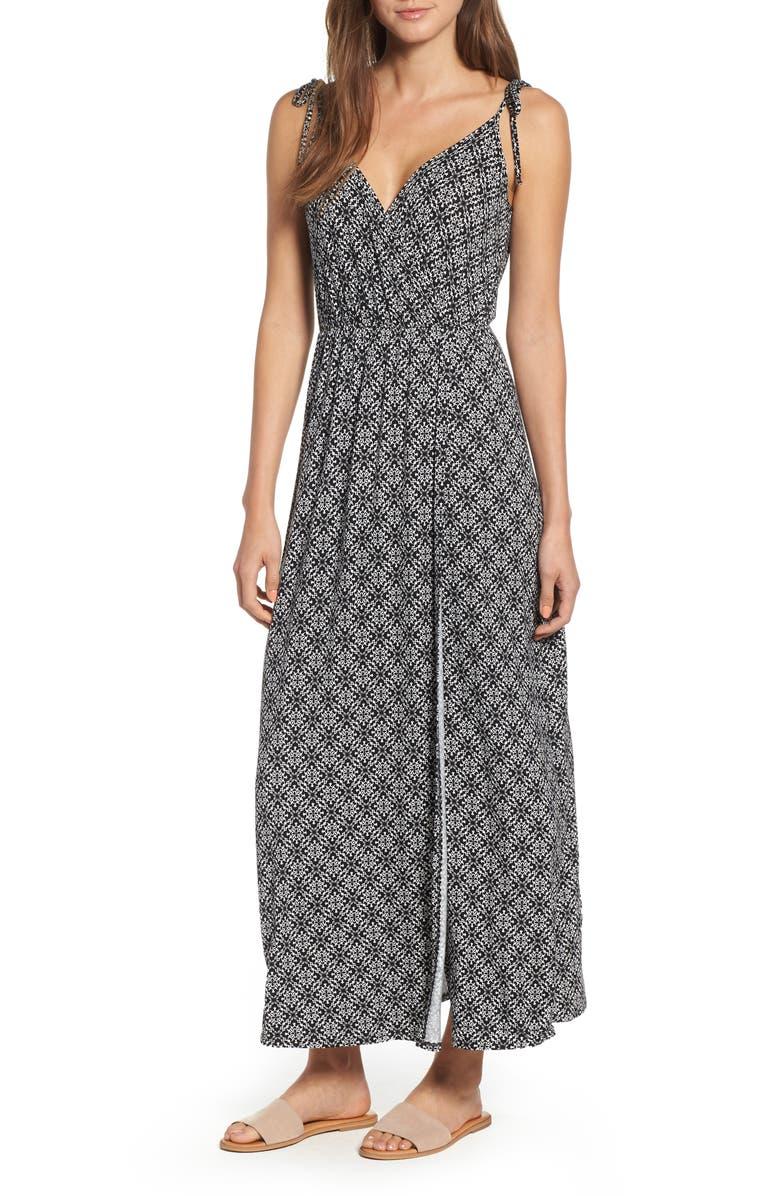 SOPRANO Faux Wrap Maxi Dress, Main, color, 001