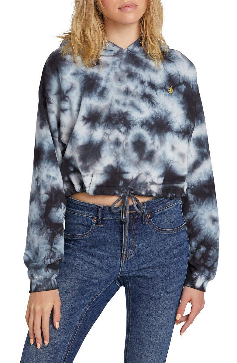 Shoptagr Knot It Tie Dye Crop Hoodie By Volcom