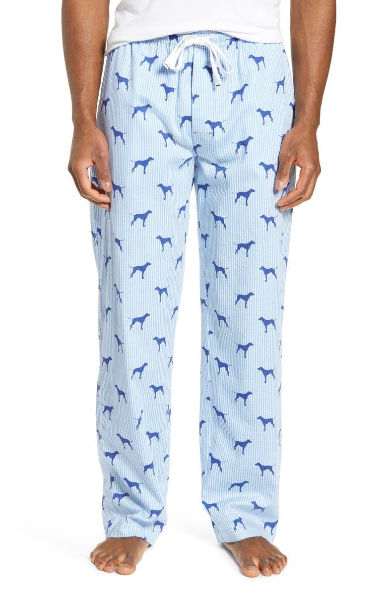 MAJESTIC INTERNATIONAL Dog Tired Lounge Pants, Main, color, POOL PRINT