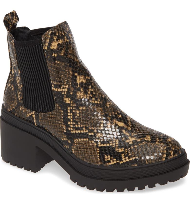 TOPSHOP Brixton Chelsea Boot, Main, color, NUDE MULTI