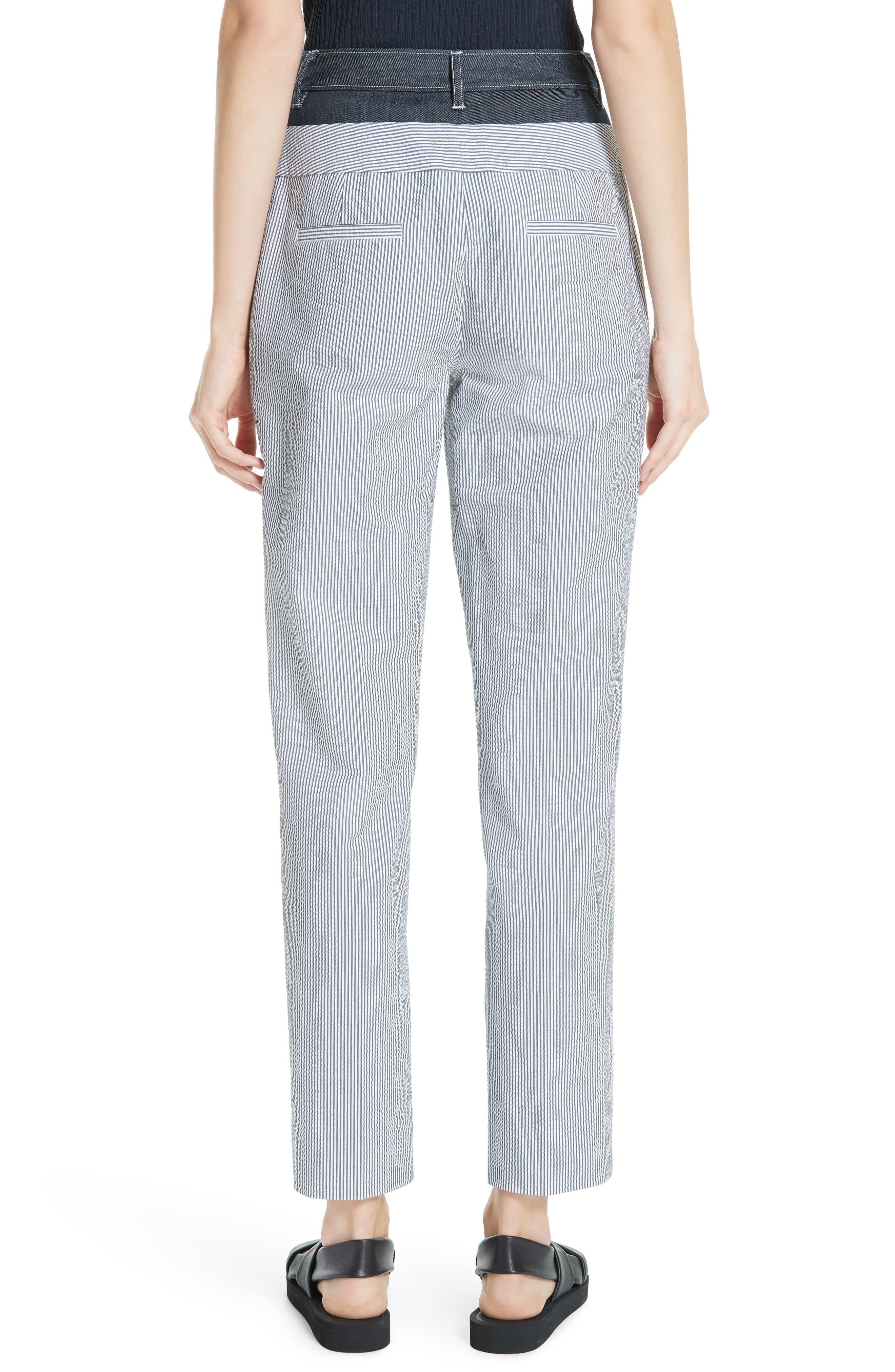 ,                             Denim & Seersucker Pants,                             Alternate thumbnail 2, color,                             TWILIGHT/ STAR WHITE