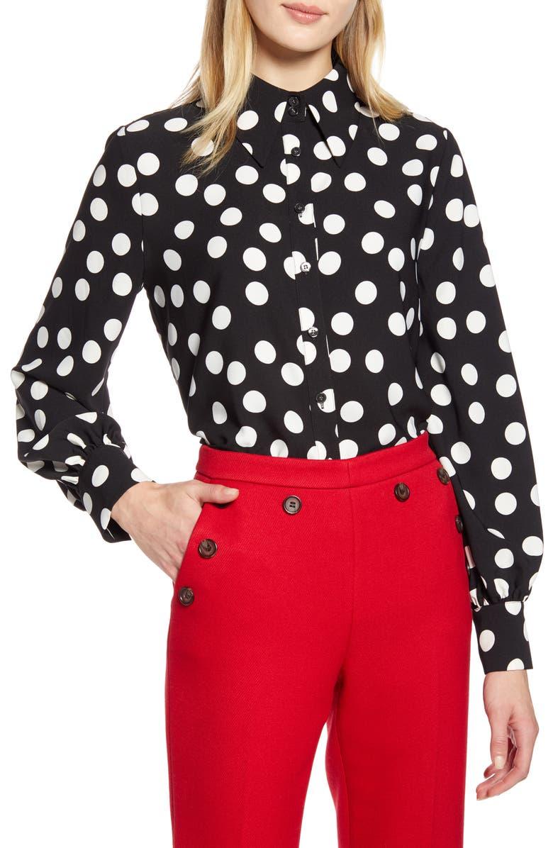 HALOGEN<SUP>®</SUP> x Atlantic-Pacific Print Button-Up Shirt, Main, color, 001