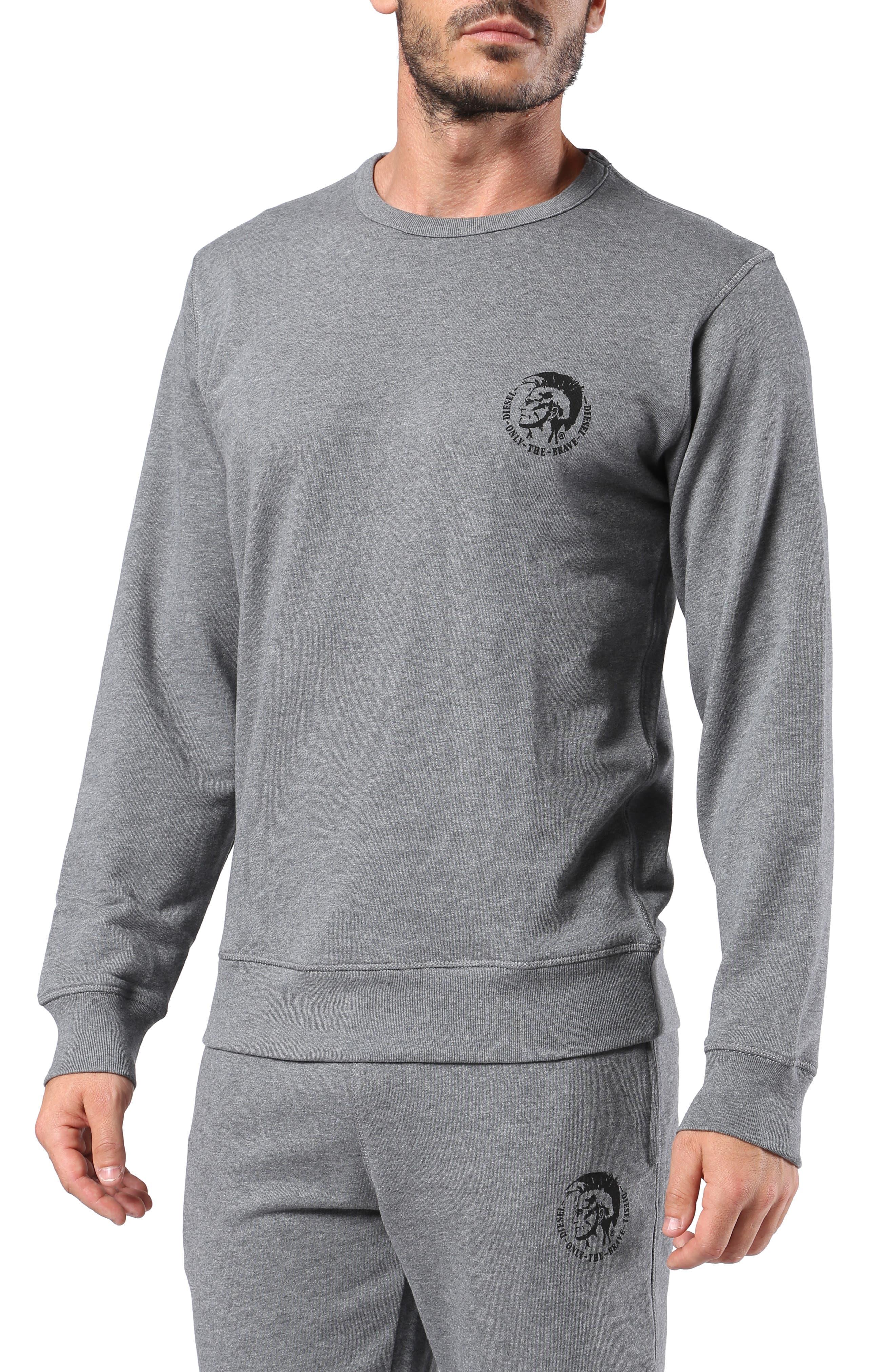 Willy Crewneck Sweatshirt, Main, color, MELANGE GREY