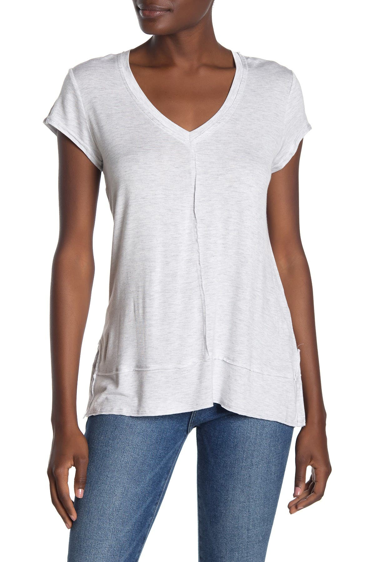 Image of H By Bordeaux V-Neck Tunic T-Shirt
