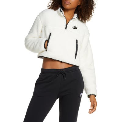 Nike Sportswear Fleece Quarter Zip Crop Pullover