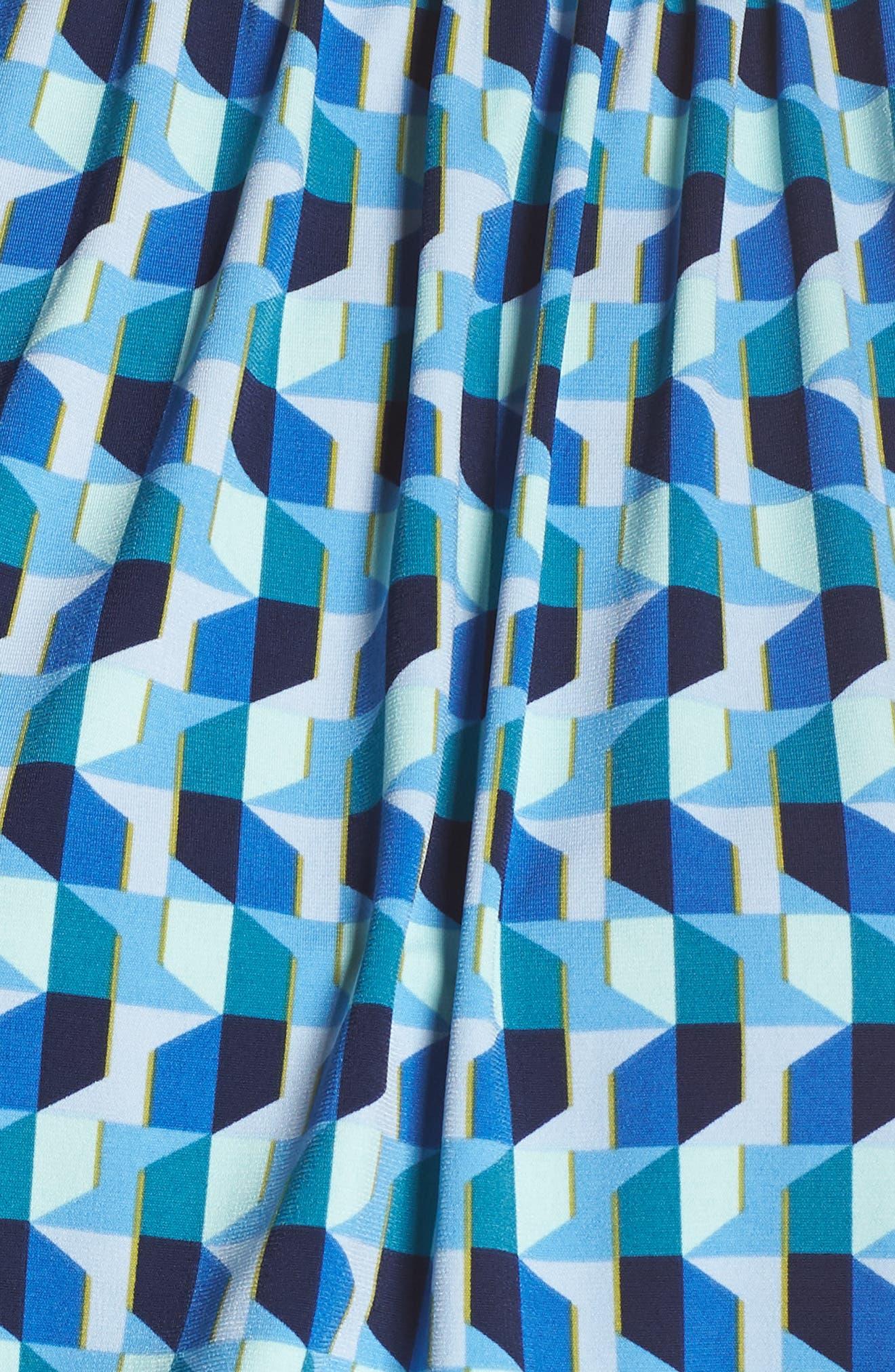 ,                             Mindy Shirred Midi Dress,                             Alternate thumbnail 6, color,                             AZURE BLUE
